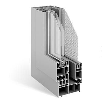 FSN118外平开窗窗纱一体系统
